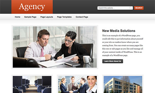agency child wordpress template
