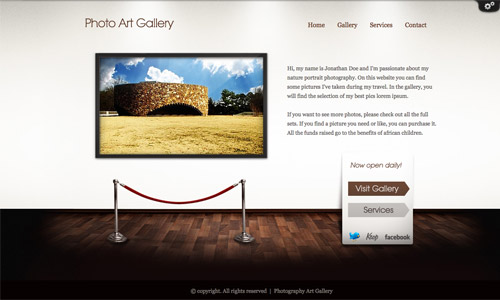art gallery wordpress template