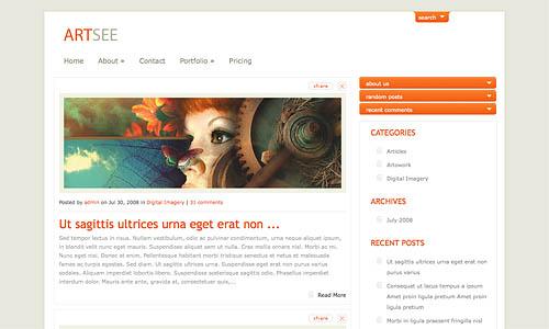 artsee wordpress template