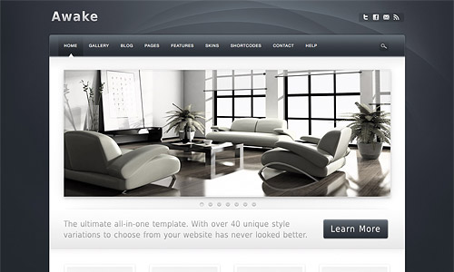 awake wordpress template