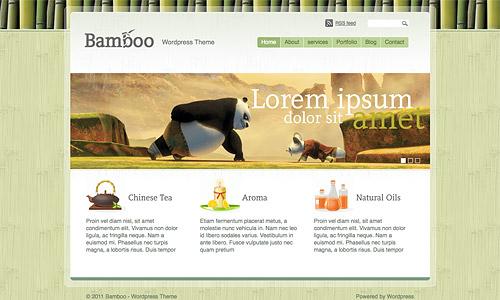 bamboo wordpress template