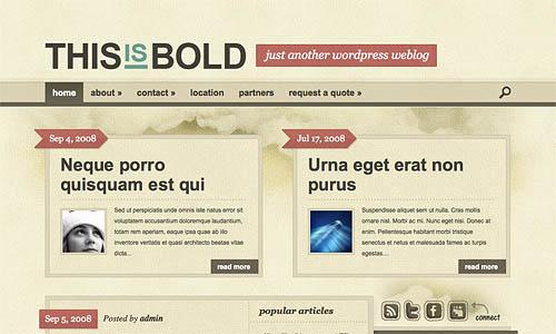 bold wordpress template