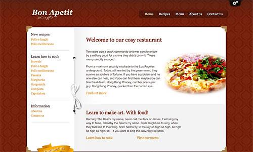 bon apetit wordpress template
