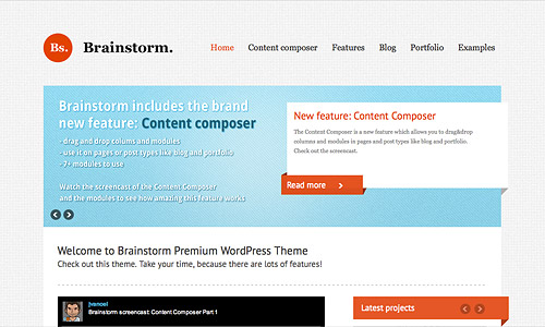 brainstorm wordpress template
