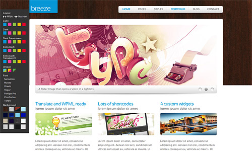 breeze wordpress template