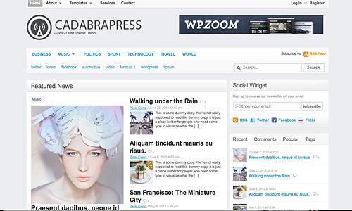 cadabrapress wordpress template