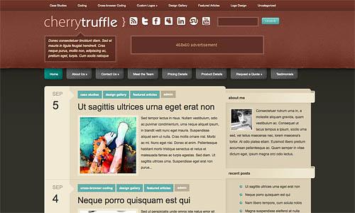 cherry truffle wordpress template