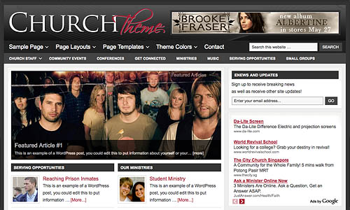 church child wordpress template