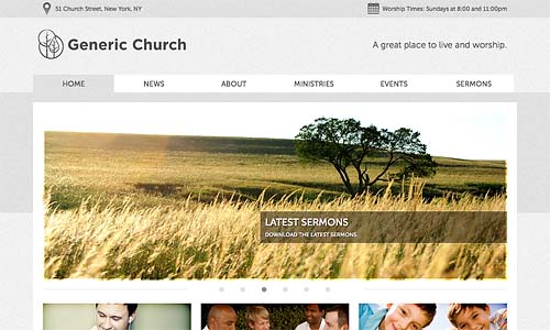 church templater wordpress template