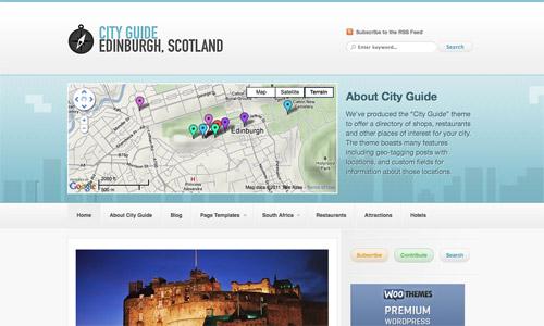 city guide wordpress template