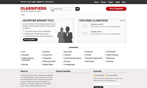 classifieds wordpress template