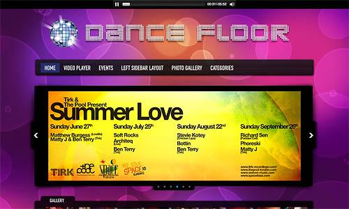 dance floor music wordpress template