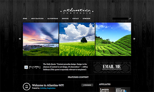 dark atlantica wordpress template