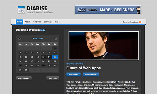 diarise wordpress template