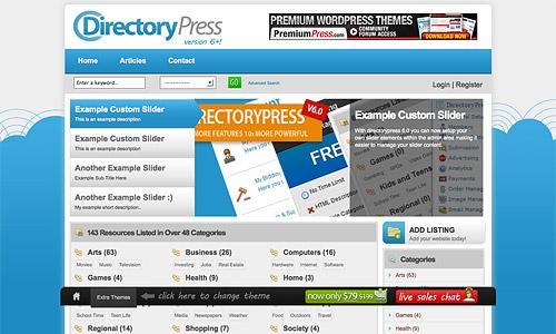directorypress wordpress template