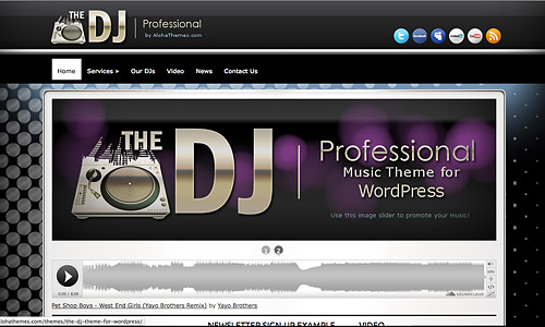 dj wordpress music template