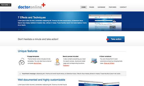 doctor online wordpress template