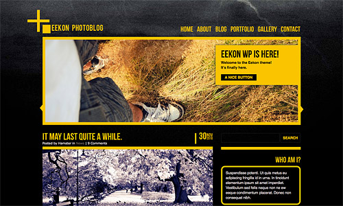 eekon photoblog wordpress template