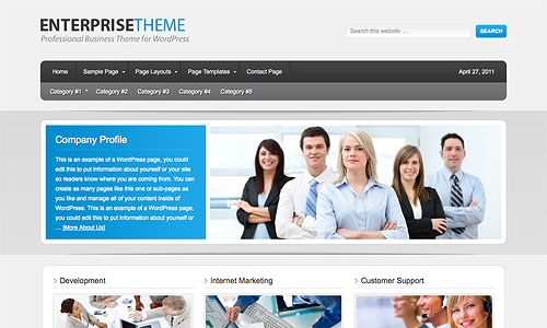 enterprise child wordpress template