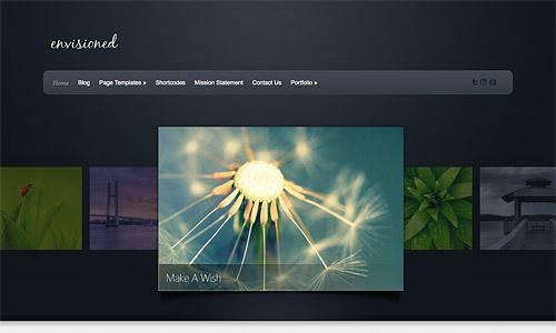 envisioned wordpress template