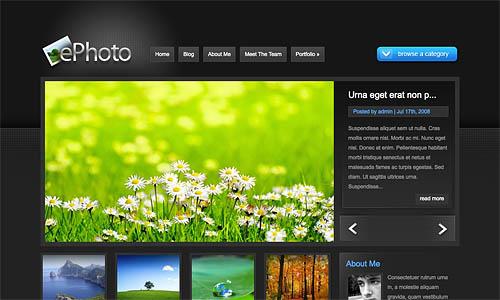 ephoto wordpress template