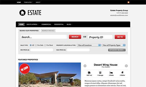 estate wordpress template
