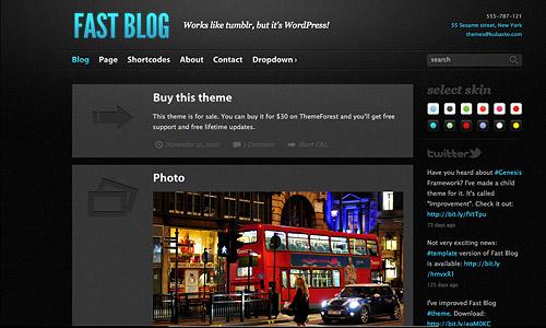 fast blog wordpress template