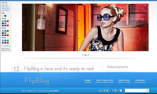 flipblog wordpress template