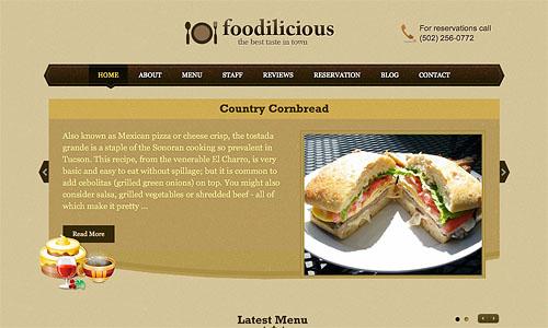 foodilicious wordpress template