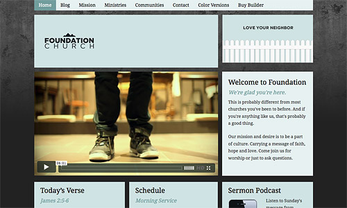 foundation church wordpress template