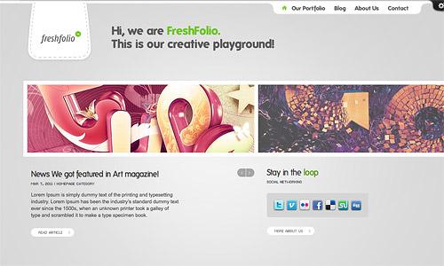 freshfolio wordpress template