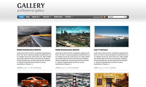 gallery wordpress template