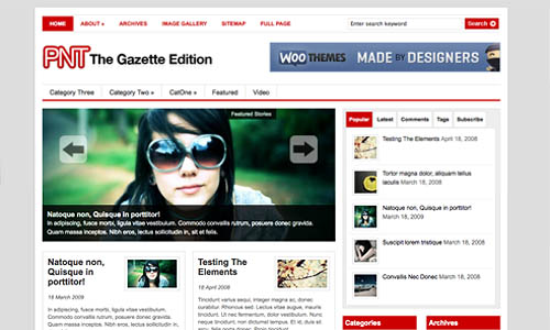 gazette news wordpress template