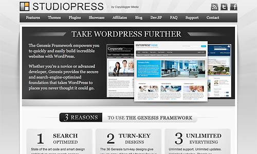genesis wordpress template