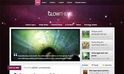 glow wordpress template