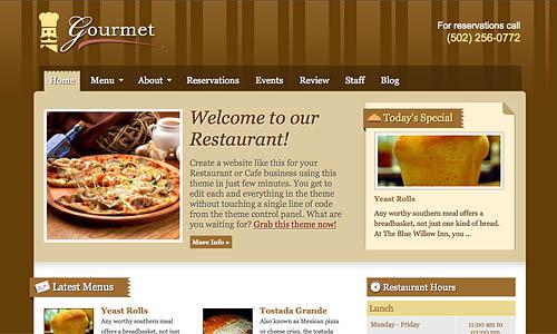 gourmet wordpress template