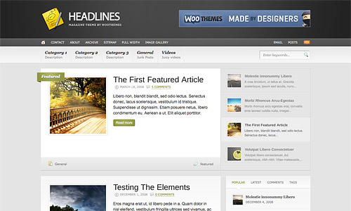 headlines wordpress template