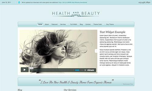 health and beauty wordpree template