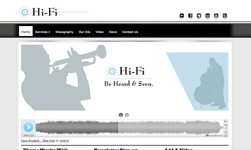hi fi music music wordpress template