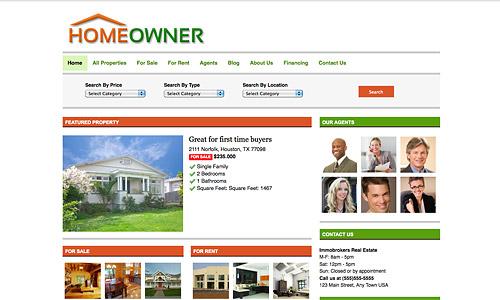homeowner real estate wordpress template