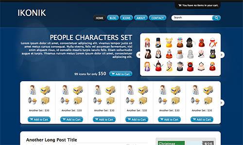 ikonic wordpress template