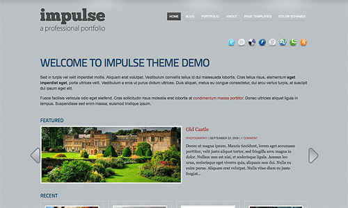 impulse wordpress template
