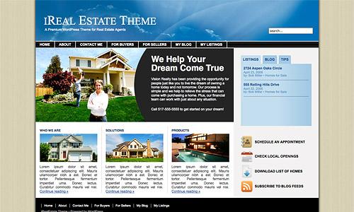 ireal estate wordpress template