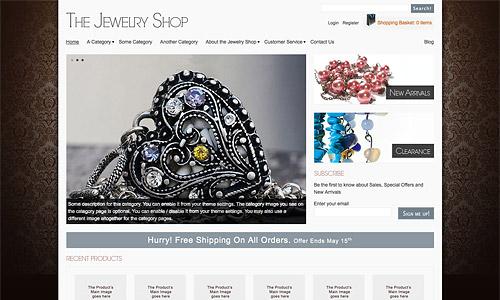 jewelry shop wordpress template