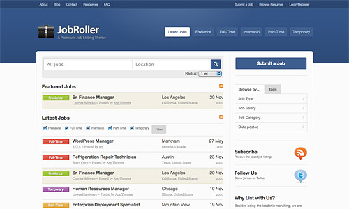 job roller wordpress template