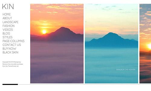 kin minimalist photography wordpress template
