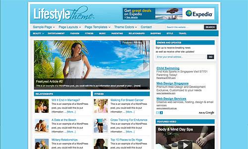 lifestyle child wordpress template