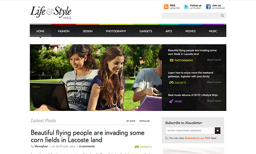lifestyle wordpress template