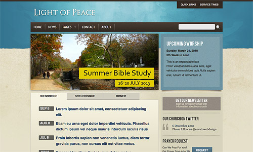 light of peace wordpress template