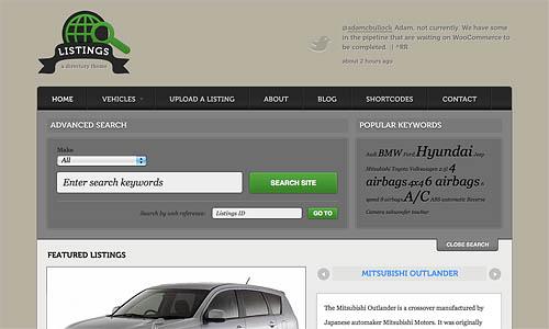 listings wordpress template